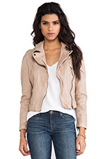 Quilted Shoulder Moto Jacket in Rosetta