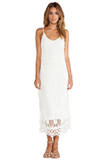 Meteor Crochet Maxi Dress in White