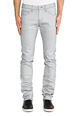 Skinny Guy 12oz Reflective Denim in Silver & Grey