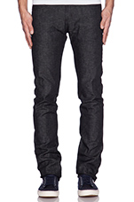 Super Skinny Guy 12oz Grandrelle Denim in Black
