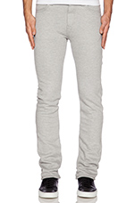 Sweat Jean 11oz Knit Fleece in Heather Grey