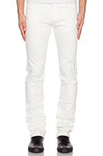 Skinny Guy Ivory Power Stretch 12oz in White