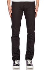 Super Skinny Guy Sumi Ink Coated Selvedge 12oz in Black Indigo