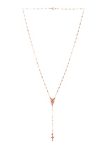 Roma Rosary Necklace in Rose Gold