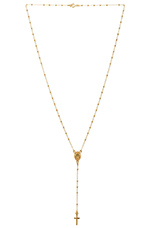 Natalie B Roma Rosary Necklace in Gold