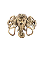 Lucky Ganesha Cuff in Brass
