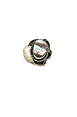 Two Raven Ring in Abalone
