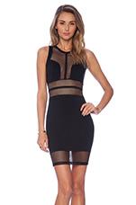NBD Night Cap Bodycon Dress in Black