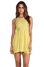 Hikari Dress in Chartreuse
