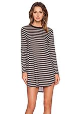 Linen Rebel Dress in Black & White Stripe