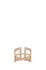 Polyline Ring in Gold