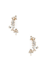 Flowery Earrings in Gold & Clear