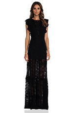 Caletto Maxi Dress in Black