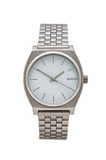 The Time Teller in Silver & White