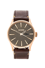 The Sentry Leather in Rose Gold & Brown