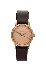 The Kenzi Leather in Rose Gold & Brown