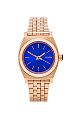 The Small Time Teller in Rose Gold/ Cobalt
