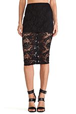 Renegade Lace Pencil Skirt in Black