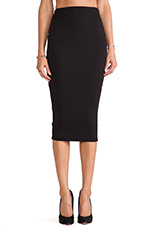 Pucker Up Pencil Skirt in Black