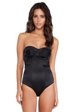 Ryan Silk Bodysuit in Black