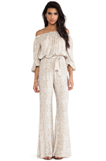 Rosewood Romper in White Chantilly