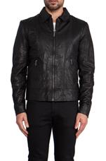 Jonny Leather Jacket in Black