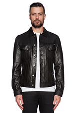 Perry Leather & Crust Jacket in Black