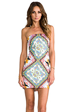 Neon Collection Tube Dress in Pastel Aztec