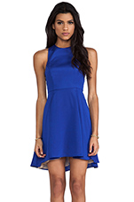 EXCLUSIVE Jackie Circle Skirt Dress in Vegas Blue