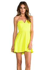 Bombshell Circle Skirt Dress in Chartreuse