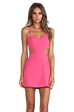 Sweetheart Cutout Dress in Pop Pink