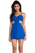 Sweetheart Cutout Dress in Vegas Blue