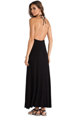 Halter Cut Out Maxi Dress in Black