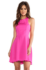 EXCLUSIVE Jackie Circle Skirt Dress in Pop Pink