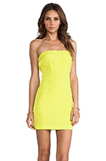 Neon Collection Tube Dress in Chartreuse