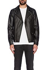 Saint Bastards Leather Jacket in Black
