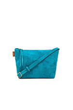 Adieu Suede Purse in Turquoise