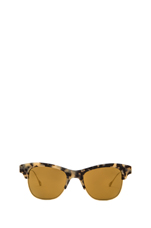 Hobson Polarized Sunglasses in Grey Spotted Tortoise/Antique Gold