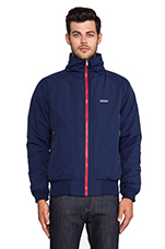 Shelled Synchilla Jacket in Classic Navy & Cochineal Red