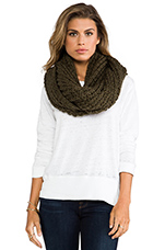 Chunky Infinity Scarf in Olive