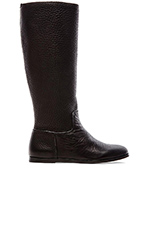 Ylva Cervo Flat Knee High Boot in Black