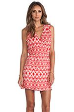 Jody Dress in Crimson Geo