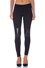Quilted Knee Patch Legging in Black