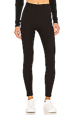 Cotton Fleece Lined Legging in Black