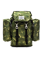Rucksack Backpack in Green Camo