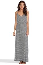 Rib Rayne Dress in Black Stripe