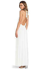 Renee Halter Dress in White