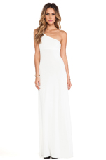 Conrad One Shoulder Dress in White