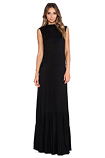 Rib Hattie Dress in Black