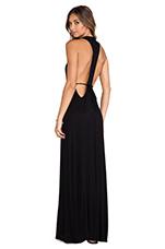 X REVOLVE Rib Iona Maxi Dress in Black